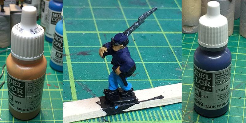 Dark Blue Steel Paint Vallejo
